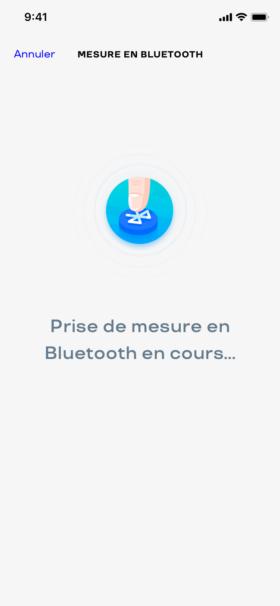 Prenez une mesure en Bluetooth grâce à un simple bouton dans l'application