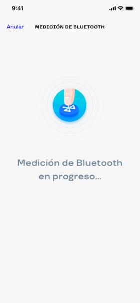 Tome una medición en Bluetooth con un simple botón en la aplicación