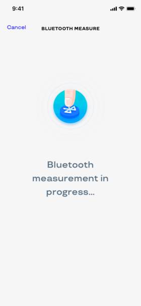 Take a measurement in Bluetooth with a simple button in the app